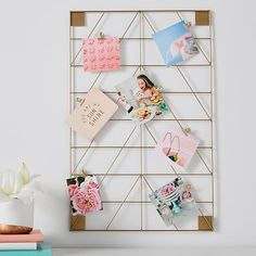 Take your display goals to glam level with our No Nails Metallic Photo Holder. Hang just one, double up with two, or hang as many as you need to display all your favorite pics and inspirational quotes. Arrange in a row, a cube or however you like …
