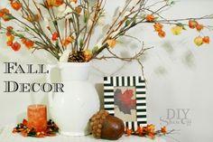 Fall decorating at diyshowoff.com