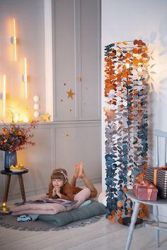 Customiser une lampe avec des guirlandes en papier Diy Abat Jour, Diy Art, Toddler Bed, Lights, Crafty, Furniture, Beautiful, Design, Home Decor