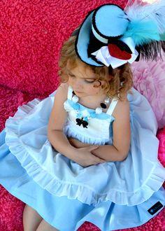 Mini Top Hat - WONDERLAND - Top Hat, Birthday,  Mad Hatter -  Alice - Alice In Wonderland - Photo Prop - Krown Kreations on Etsy