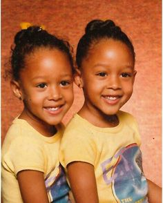 Always my ❤️ I still remember why my hair was a mess. I didn't know it was picture day and I was busy playing dress up before taking the pics. Nothing really has changed. Tamera (left) Tia (right). I love twins My Black Is Beautiful, Beautiful Babies, Tia And Tamera Mowry, Young Celebrities, Celebs, Young Actors, Celebrities Fashion, Sister Love, Black Girls
