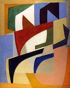"""Cícero Dias - década de 1950 Após 1950, predominam os quadros abstratos, em que se destacam as formas fechadas, retangulares ou tendendo à circularidade, e a preocupação com a luz e as cores claras, em uma gama cromática evocativa da natureza nordestina, como em Composição II, 1951. http://sergiozeiger.tumblr.com/…/cicero-dos-santos-dias-esc… Para o crítico Mário Carelli, o artista, na abstração, parte de um """"caminho vegetal"""", em que as formas geométricas refletem uma cristalização perfeita…"""