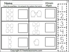 free mitten number matching 0 5 fun winter math activity teacher ideas pre k math. Black Bedroom Furniture Sets. Home Design Ideas