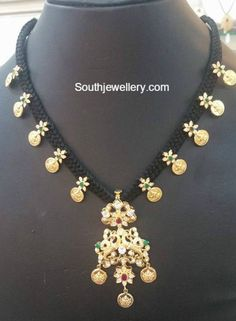 lakshmi kasu thread necklace
