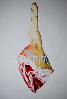 The Royal 2014 ( Chopard- Red carpet diamond naklec ) Oil on canvas 105x 85 cm Müller Contemporary Art