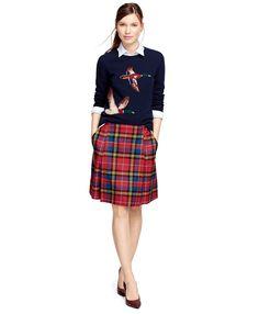 Wool Intarsia Sweater - Brooks Brothers