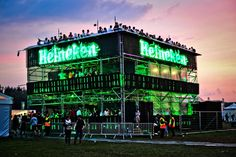 Heineken Open'er Festival Poland 2012, construction design and production Horeca Group