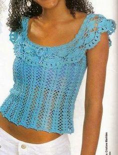 Patrones de blusa ganchillo de dama