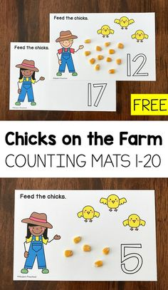 Feed the Chicks on the Farm! A great way to review counting this fall from 1-20 with preschool and kindergarten kids! #fallunit #farmunit