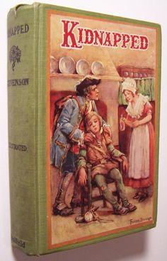 KIDNAPPED Robert Louis Stevenson 1926 Pictorial HC ILLUS. Frances Brundage - J1