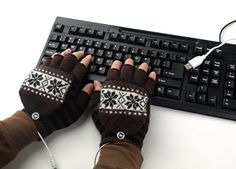 USB Interfaces Electric warming Gloves