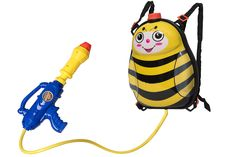 Toyrifik Water Gun Backpack Water Blaster For kids -Water Shooter With Tank Bumble Bee Toys For Kids- Summer Outdoor Toys For Pool Beach Water Toys For Kids. Backpack water gun, no more refilling. Ideal for water wars and outdoor fun, for toddlers and kids. Sturdy backpack will store the water and keep the game going at high speed. Wide strapped and lightweight, this backpack is easy for kids to carry without causing back strain. This powerful pistol will satisfy you with its far and...