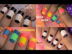 The black and white of it - Worldnews. Nail Tutorials, Design Tutorials, Beginner Nail Designs, Daily Nail, Neon Nails, Fancy Nails, Nail Tools, Cool Nail Art, Mani Pedi