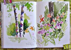 I love looking at other peoples sketchbooks, what a pretty watercolour journal by Catherine Carey.