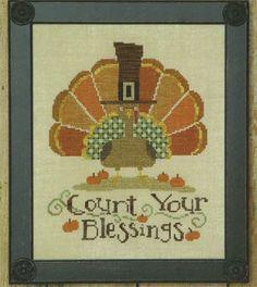 That Turkey's Not Big It's Uber - Bent Creek - Thanksgiving cross stitch pattern