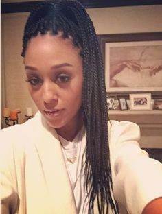 Africa at Work: Young, African, and Interning Tia Mowry, Beautiful Braids, Gorgeous Hair, Stuart Weitzman, Poetic Justice Braids, Blonde Box Braids, Summer Braids, Afro Style, High Ponytails
