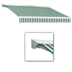Beauty-Mark 16 ft. Destin with Hood AT Model Left Motor Retractable Awning (16 ft. W x 10 ft. D) in