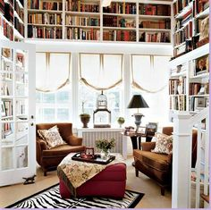 Like this as an alternative to the dark, moody library. Well done and well furnished.