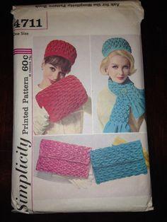 Simplicity Pattern 4711 Misses Smocked Hat Muff Bag by SplashOfLuv