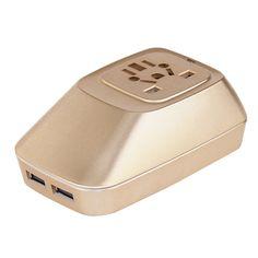 GAZEBOO WP02 Universal Travel Adapter Power Plug Converter with USB 2.0 Interface US EU UK AU Standard USB Charging Socket Panel