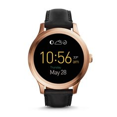 Q Founder Digital Display Black Leather Touchscreen Smartwatch my next gift to me!