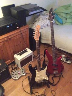 The guitars i use most.