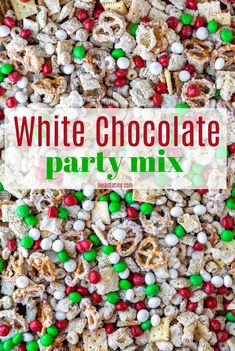 White Chocolate Party Mix is an easy snack, appetizer, or dessert that's perfect for snacking on while watching movies. This Chex, cereal, pretzel, and peanut blend is coated with white chocolate for a sweet and salty treat.