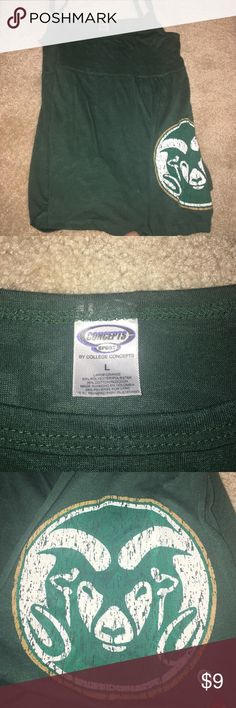 CSU college tank top!!! Super comfortable--cute--Rams State college concepts Tops Tank Tops