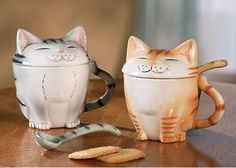 Fun Cat Coffee Mugs With Lids by Winston Brands Cat Coffee Mug, Cat Mug, Coffee Cups, Coffee Lovers, Cat Lover Gifts, Cat Gifts, Cat Lovers, Crazy Cat Lady, Crazy Cats