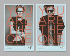 You are the One posters great graphic design