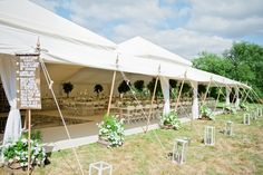 Stunning Pearl Tent exterior in the summer sunshine - what more could a bride want?!