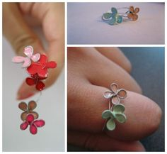 Nail polish flowers - tried this before and worked amazingly, very fragile though