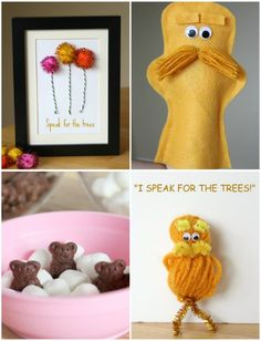 The Lorax is one of my favorite Dr. To help celebrate the book, we're sharing 4 crafty projects all about The Lorax! Dr Seuss Day, Dr. Seuss, Crafts To Do, Crafts For Kids, Arts And Crafts, Dr Seuss Birthday, The Lorax, Crafty Projects, Craft Activities