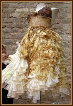 dress made from condoms