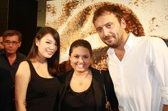 Red Hongh Yi, me and Cesare Cremonini at Nespresso event