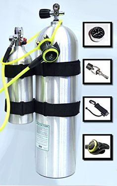 DXDIVER Bailout Pony Bottle Kit with Tank Strap Attachment 13 cf Tank Gauge Regulator Spare Backup Air Scuba Dive Egressor * For more information, visit image link. Scuba Diving Gear, Cave Diving, Technical Diving, Diver Tattoo, Flashlight, Gauges, Pony, Water Bottle, Diving