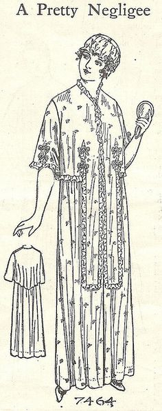 A pretty negligee - and indeed it is, from 1915