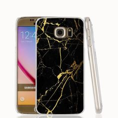 Marble gold purple black white printed cell phone case cover for Samsung Galaxy