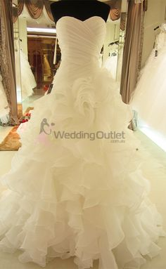 Elenora Ruffle Mermaid Wedding Dresses ab-90