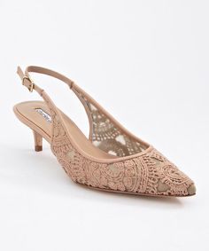 Take a look at this Almond Lace Empire Slingback by Charles David on #zulily today!