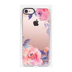 Casetify Watercolor Flowers Iphone 7 Case Pink By (£33) ❤ liked on Polyvore featuring accessories, tech accessories, phone case, phone, technology and electronics accessories