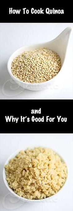 How To Cook Quinoa + Health Benefits {Video} #quinoa