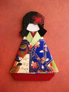 Japanese Chiyogami Paper Doll