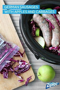 Slow cooker recipes are the best - they're so easy and convenient! Try this German sausage with apples and cabbage recipe to spice up your next winter meal. Store leftovers in a Ziploc® container for later! Or put in a Ziploc® freezer bag and freeze for much later!