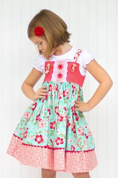 Aqua Dahlia Knot Dress perfect for Back To School http://www.kinderkoutureclothing.com/product/aqua-dahlia-knot-dress/