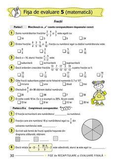 Clasa a IV-a : Fişe de recapitulare şi evaluare finală clasa a IV-a After School, Homeschooling, Bullet Journal, Math, Words, Geography, Math Resources, Horse, Homeschool