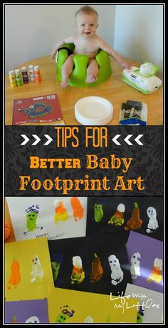 Tips for Better Baby Footprint Art: 11 tips to help get the best baby footprints for your footprint art!