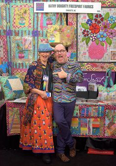 Our favorite thing about Quilt Market? Having the chance to meet inspiring designers like Kathy Doughty.