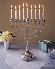 drip enough blue wax while lighting hanukkah candles and you appreciate this idea greatly!
