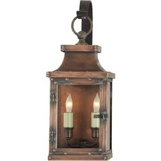 Visual Comfort CHO2151NC Chart House Bedford Small 2 Light Scroll Arm Lantern in Natural Copper